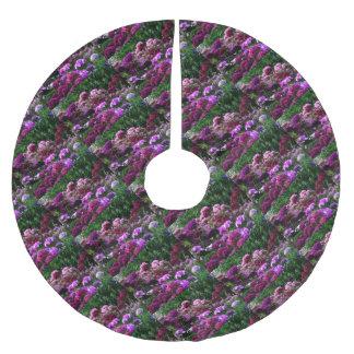 Flower Garden in summer Brushed Polyester Tree Skirt
