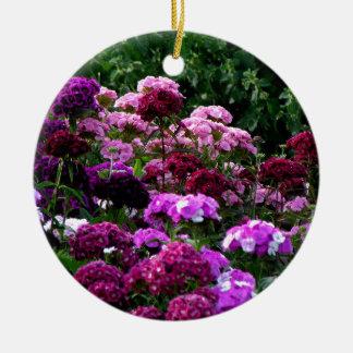 Flower Garden in summer Ceramic Ornament