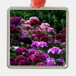 Flower Garden in summer Metal Ornament