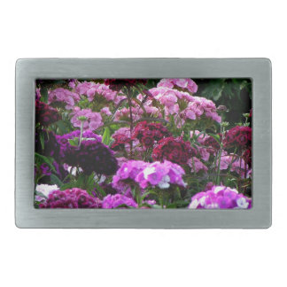 Flower Garden in summer Rectangular Belt Buckles