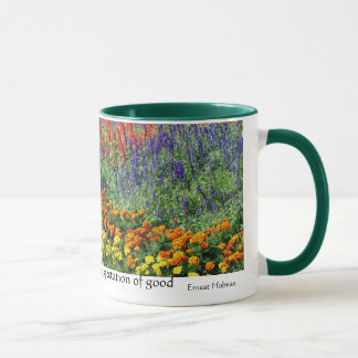 Flower Garden Inspirational Quote Mug