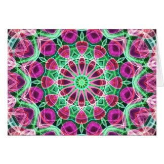 Flower Garden kaleidoscope Card