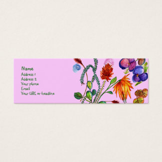 Flower Garden my Dream Mini Business Card