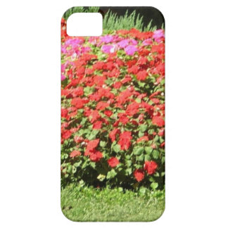 Flower Garden of Pink & Red Flowers Next to Grass Case For The iPhone 5
