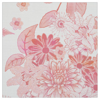 Flower Garden Pale Pink FTDP Fabric