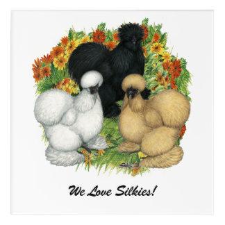 Flower Garden Silkies Acrylic Print