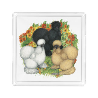 Flower Garden Silkies Acrylic Tray