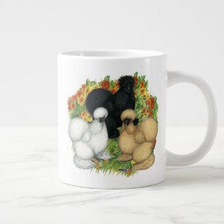 Flower Garden Silkies Large Coffee Mug