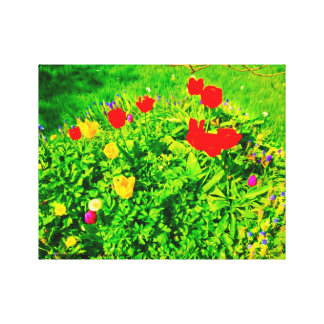 Flower Garden Tulips II Canvas Print
