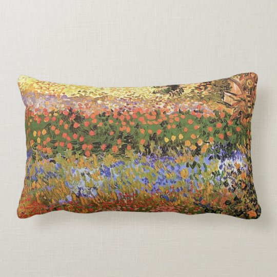 Flower Garden,Vincent van Gogh. Lumbar Pillow