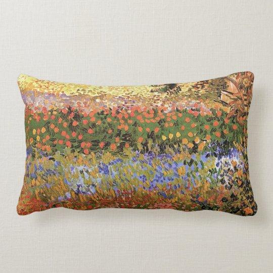 Flower Garden,Vincent van Gogh. Lumbar Pillow