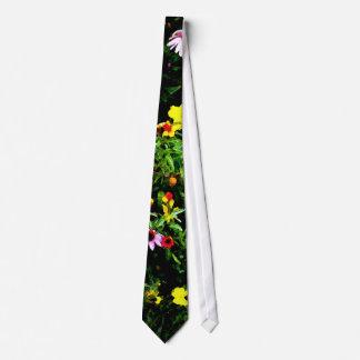Flower Garden Watercolor Tie