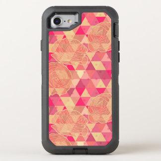 Flower geometrical pattern OtterBox defender iPhone 7 case