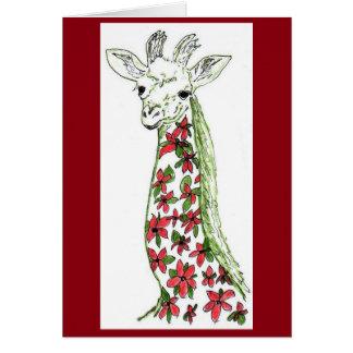Flower Giraffe & Organic African Space Art Card