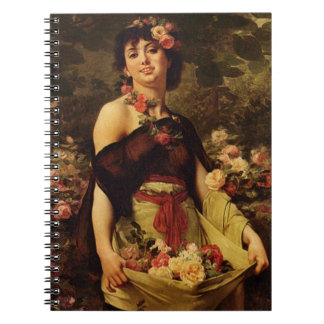 Flower Girl 1888 Spiral Notebook