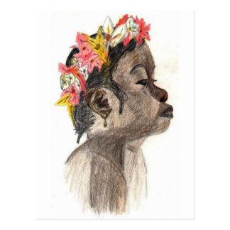 Flower Girl Art Postcard