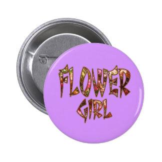 Flower Girl Bougainvillea Button