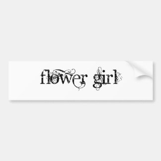 Flower Girl Bumper Sticker