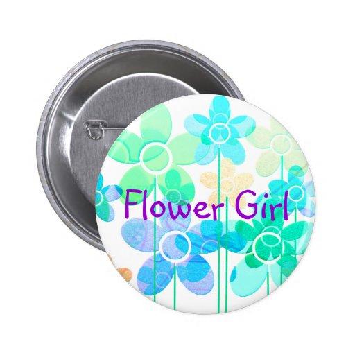 Flower Girl button pin