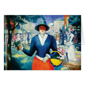 Flower Girl by Kazimir Malevich Card