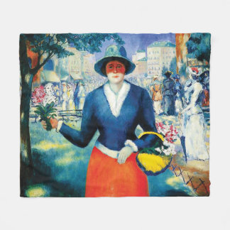 Flower Girl by Kazimir Malevich Fleece Blanket