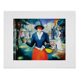 Flower Girl by Kazimir Malevich Poster