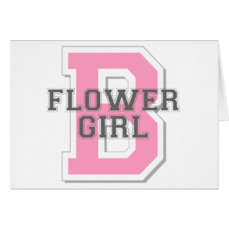Flower Girl Cheer Card
