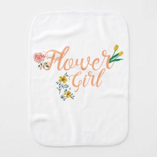 Flower Girl Cute Bridesmaid Burp Cloth