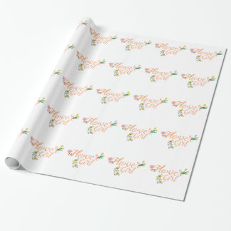 Flower Girl Cute Bridesmaid Wrapping Paper