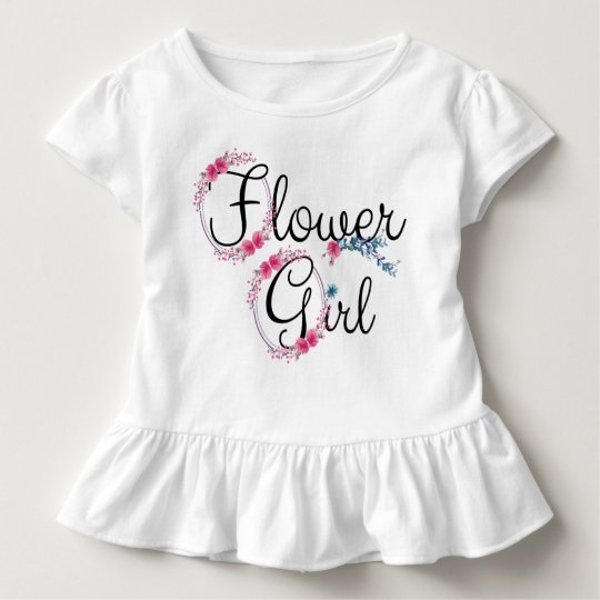 Flower Girl Cute Floral Toddler T-shirt