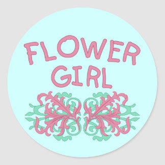 Flower Girl Design #2 Classic Round Sticker