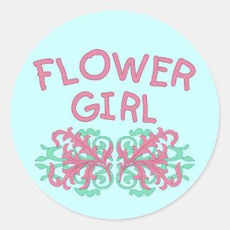 Flower Girl Design #2 Classic Round Sticker