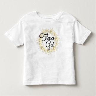 Flower Girl Floral Circle Toddler T-shirt