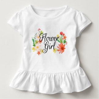 Flower Girl Floral Toddler T-shirt