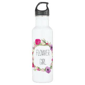 Flower Girl Floral Wreath Watercolor 710 Ml Water Bottle