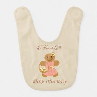 Flower Girl Gingerbread | Baby Bib
