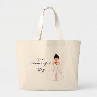 """Flower Girl I"" Bag - Customizable Canvas Bags"