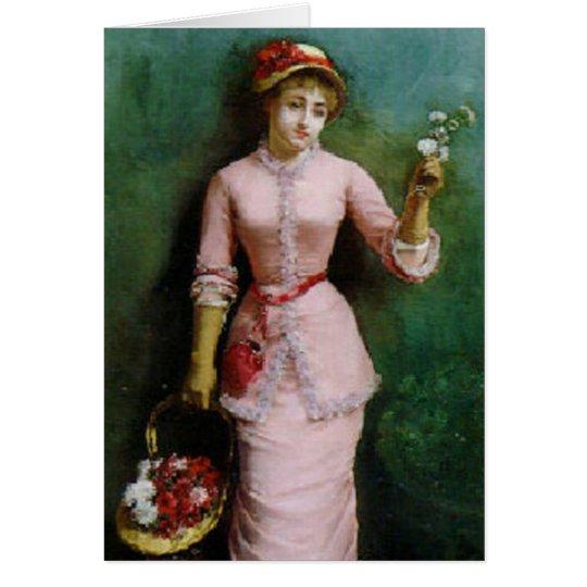 Flower Girl in Pink Card