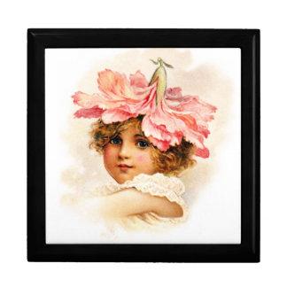 Flower Girl in Pink Gift Box
