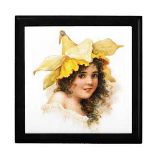 Flower Girl in Yellow Gift Box