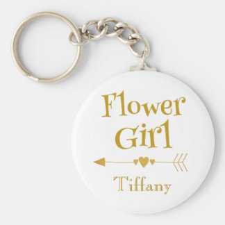 Flower Girl Love Keychain