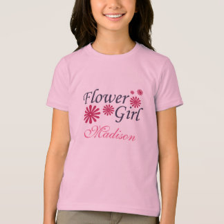 Flower Girl Personalized Kids T-Shirt