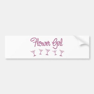 Flower Girl-pink Bumper Sticker Car Bumper Sticker