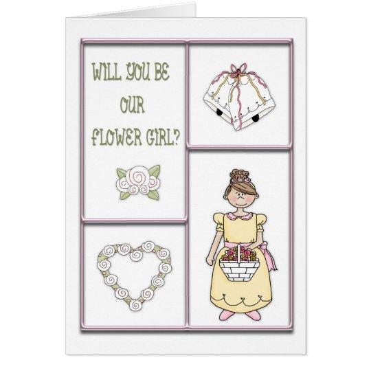 Flower Girl Pink Card