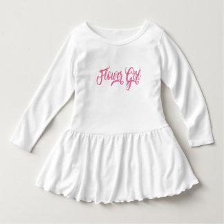 Flower Girl Pink Glitter Ruffle Dress