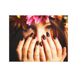Flower Girl Print Canvas