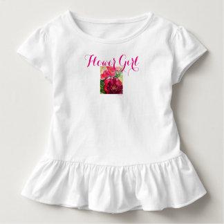 Flower Girl Rose Watercolor Art Toddler Dress