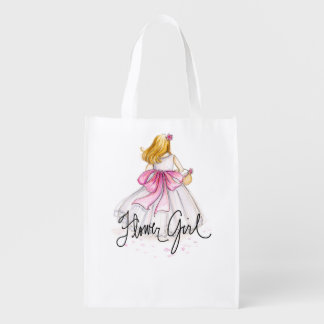 Flower Girl TOTE Reusable Grocery Bag