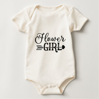 Flower Girl, Tribe Arrow, Wedding Party Baby Bodysuit