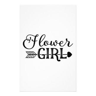 Flower Girl, Tribe Arrow, Wedding Party Stationery